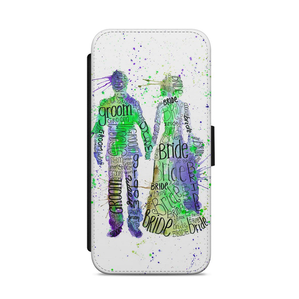 Bride & Groom (Green) Flip Phone Case