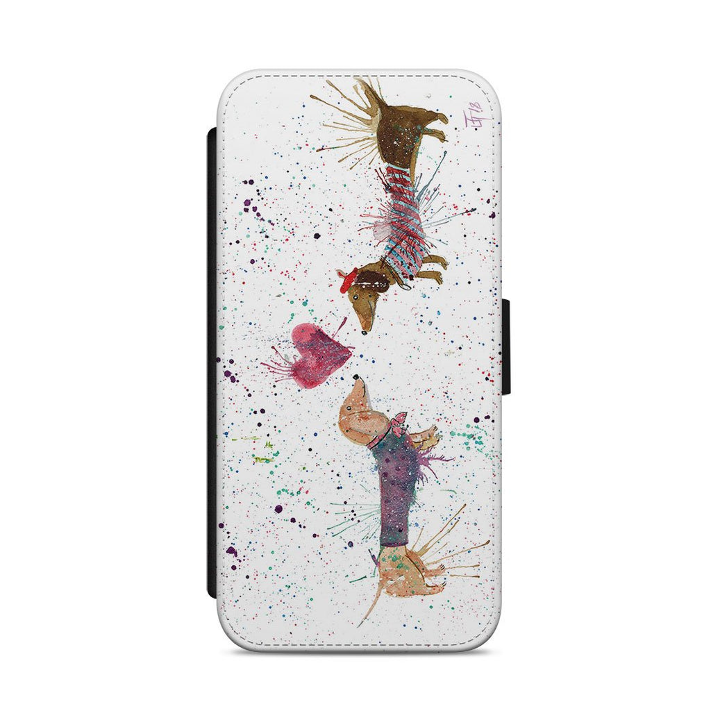Sausage Dogs in Love Flip Phone Case