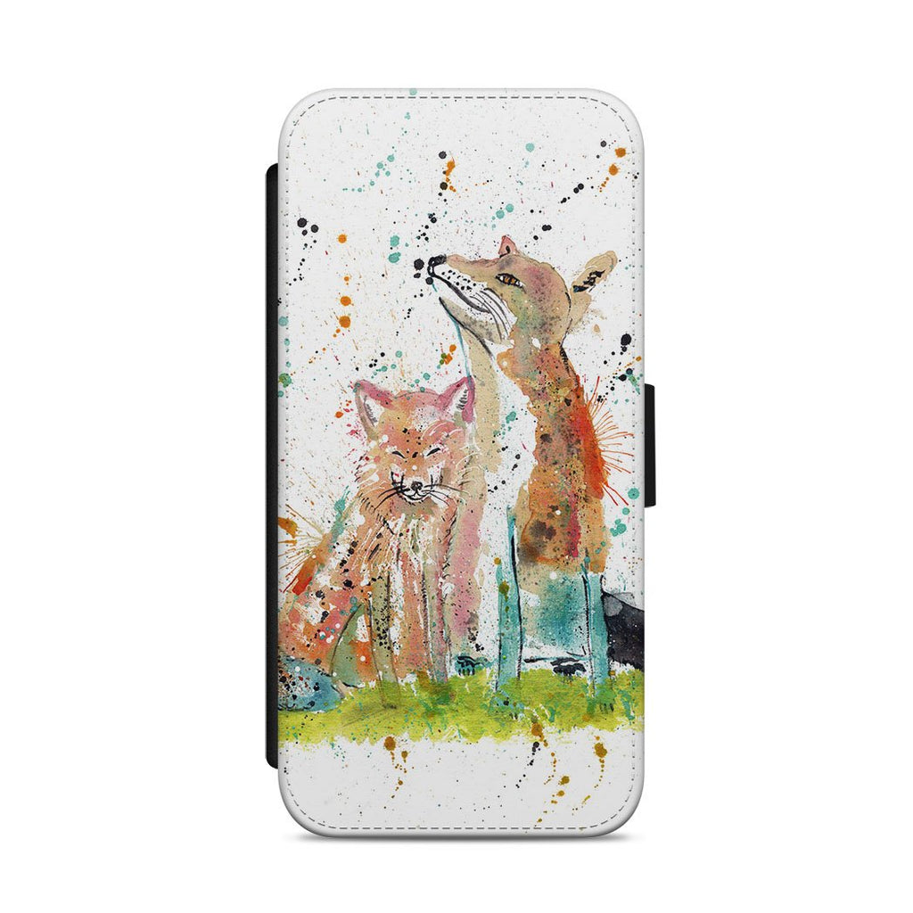 """Always Us"" Foxes Flip Phone Case"