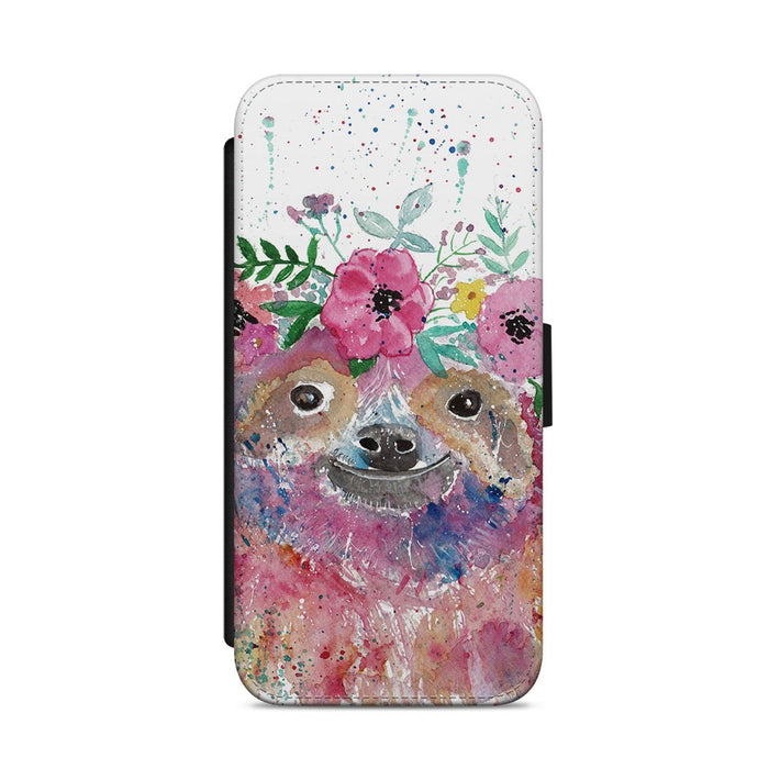 Hey Mrs Sloth Flip Phone Case