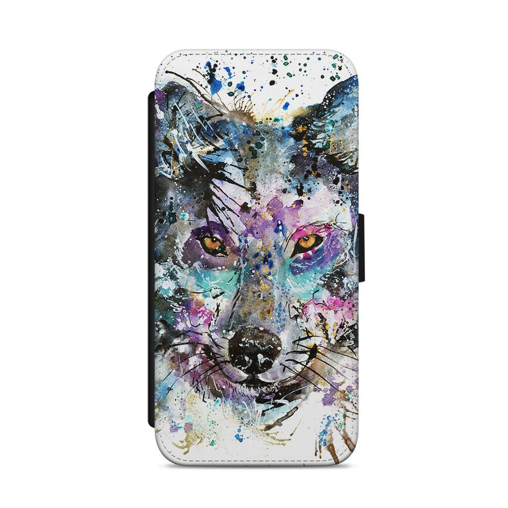 """Howl"" Wolf Flip Phone Case"