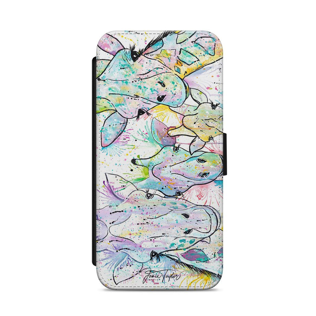 Hello! Giraffes Flip Phone Case