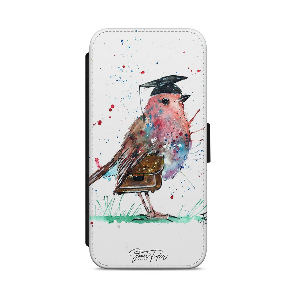 """Teach"" Robin Flip Phone Case"