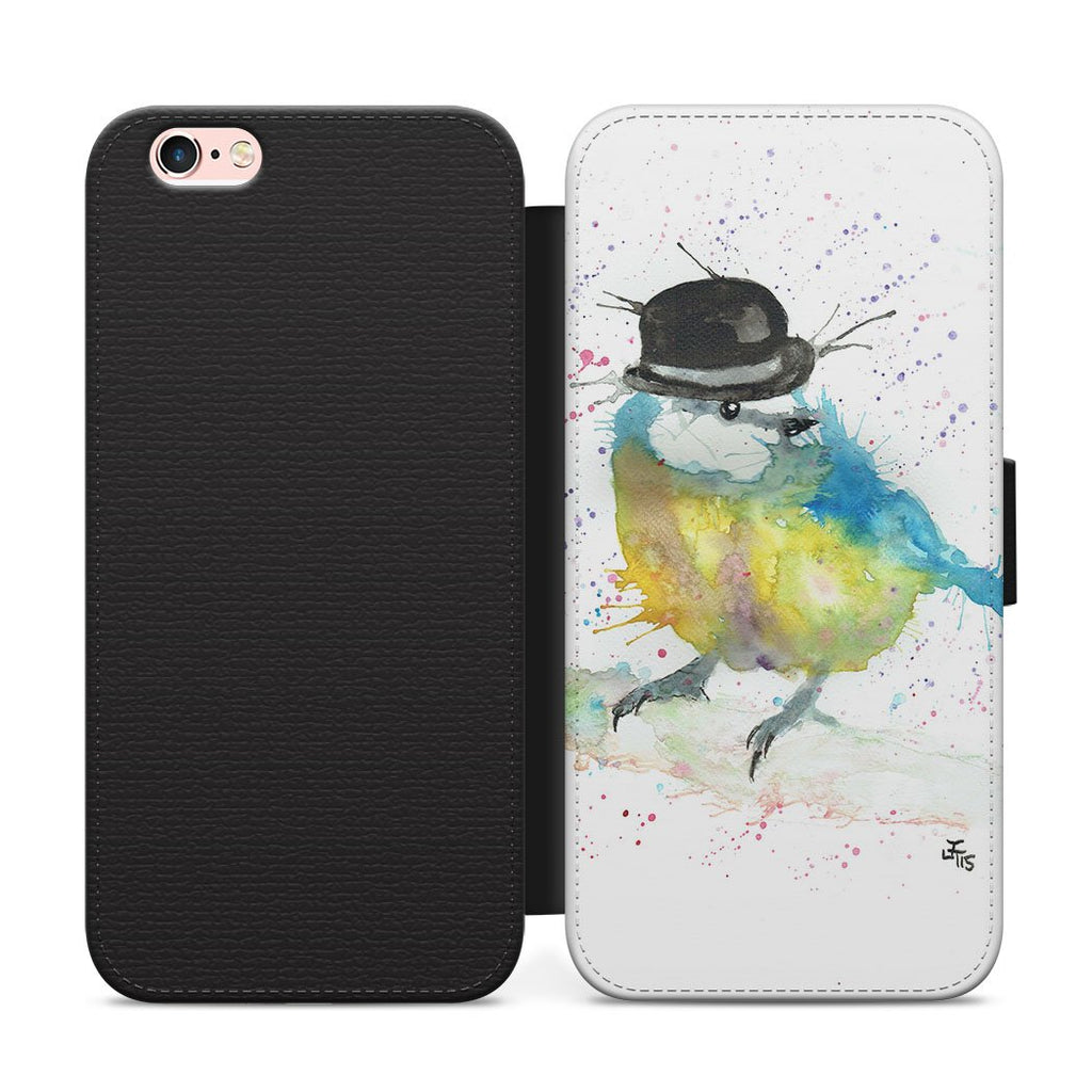 Bluetit Bowler Flip Phone Case
