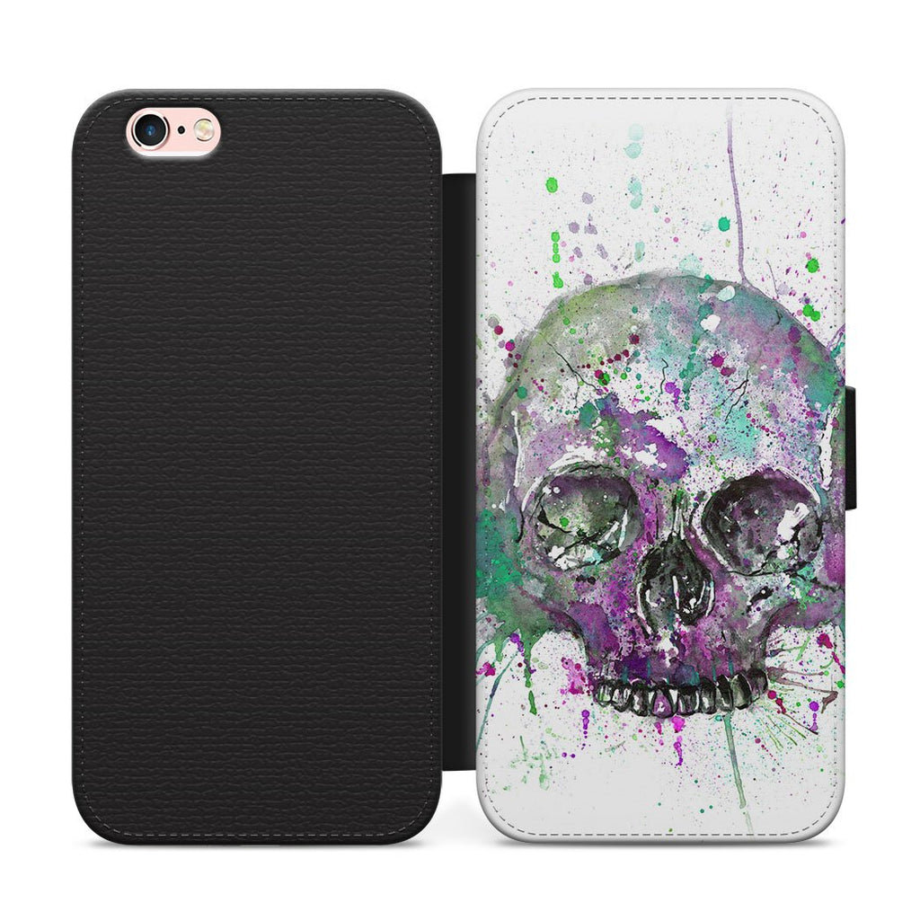 Purple Skull Flip Phone Case