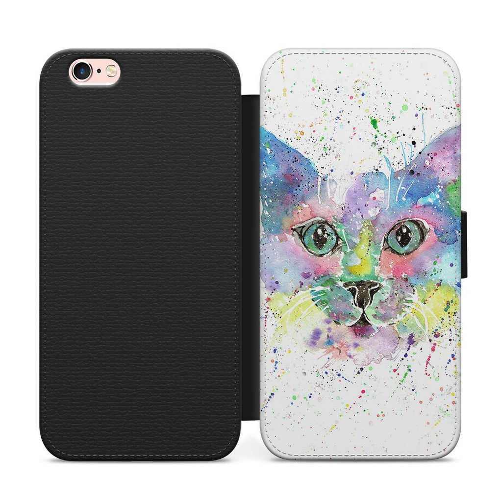 """Meep"" Cat Flip Phone Case"