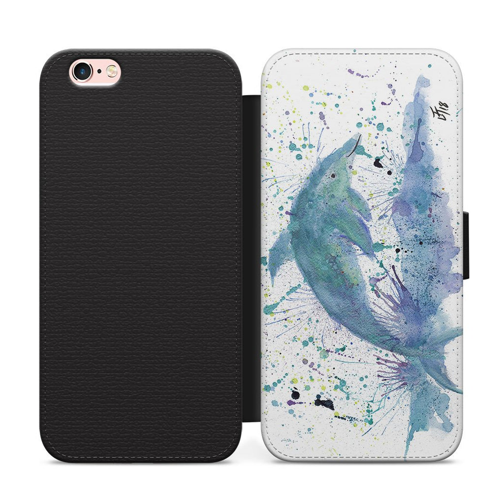 """Bottle"" Dolphin Flip Phone Case"