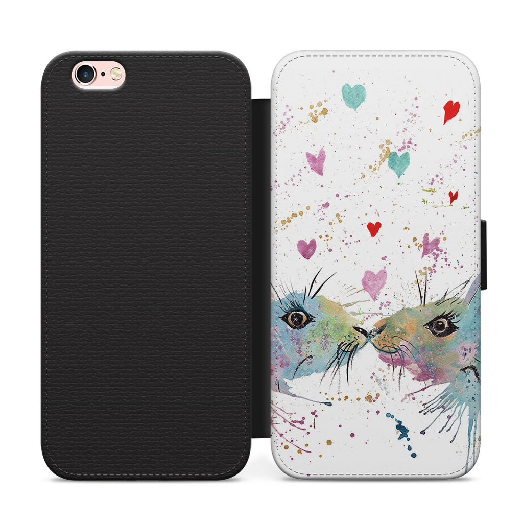 Bunnies in Love Flip Phone Case