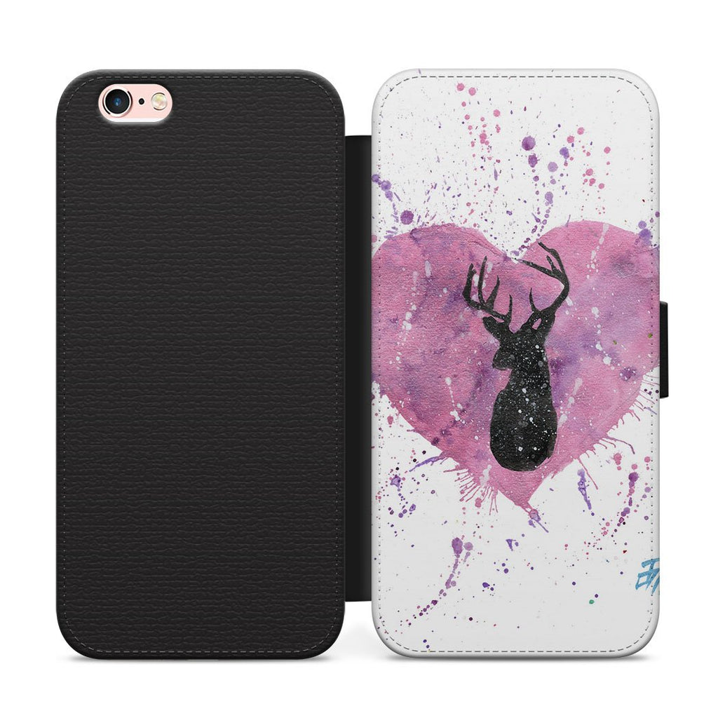 Stag Heart Flip Phone Case