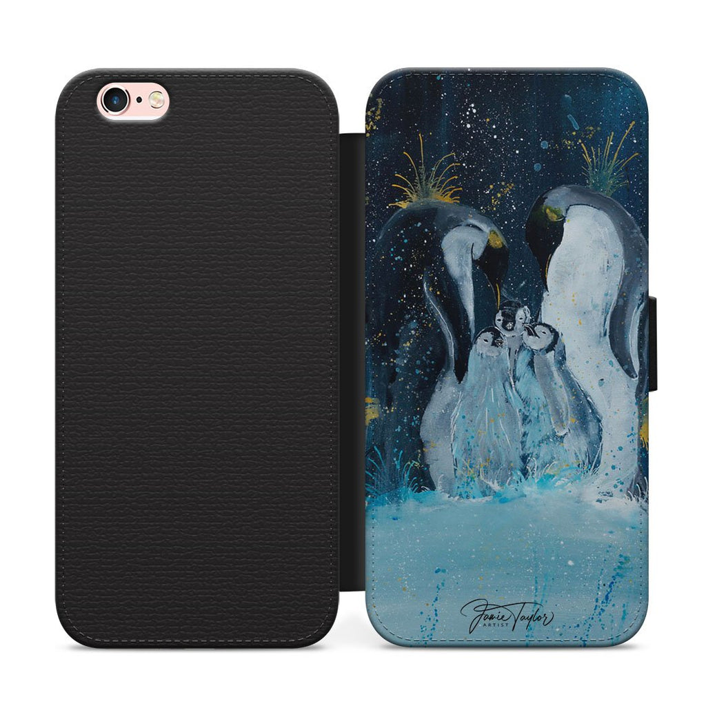 """Tranquil"" Penguins Flip Phone Case"