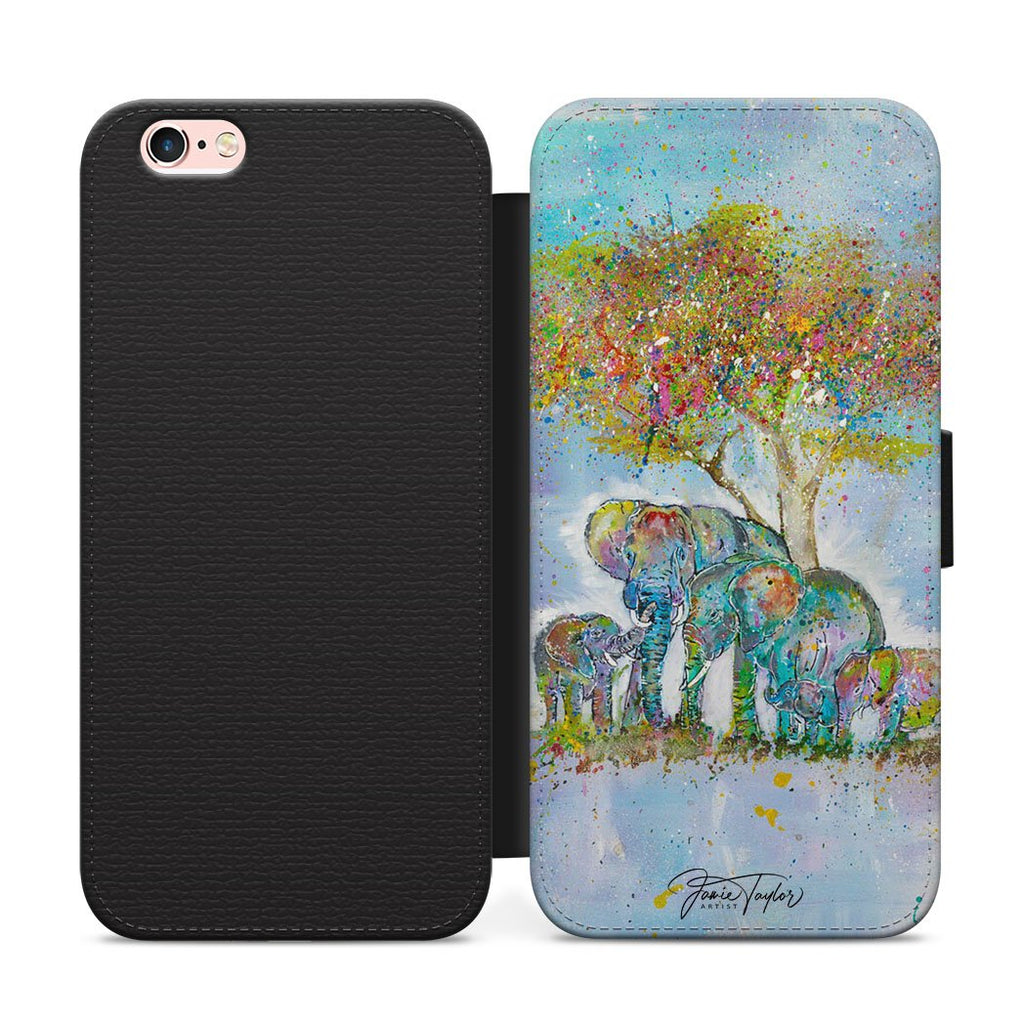 """Blessed"" Elephants Flip Phone Case"