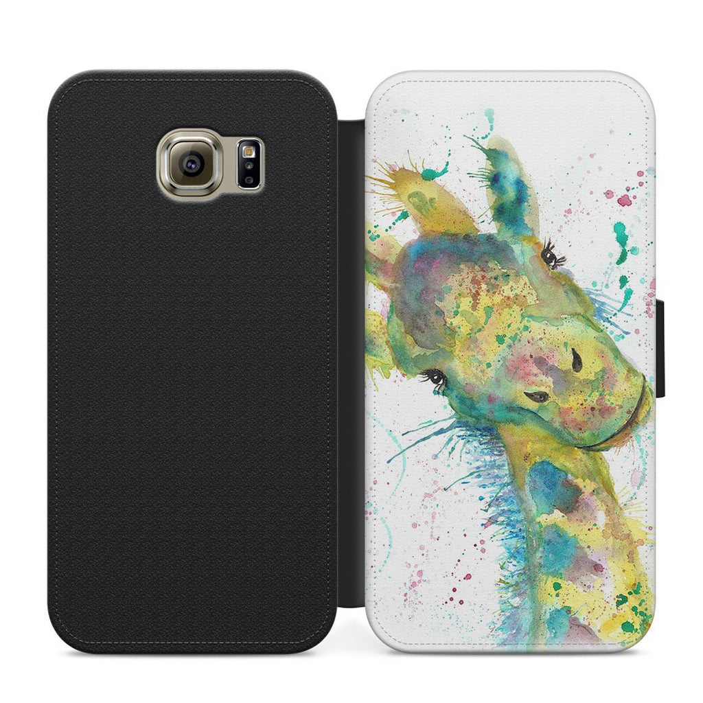 """Hattie"" Giraffe Flip Phone Case"