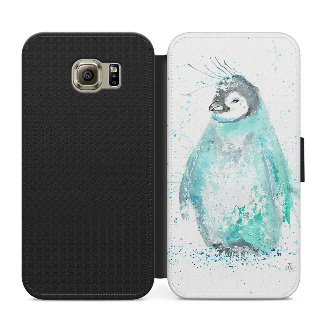 """Marv"" Penguin Flip Phone Case"