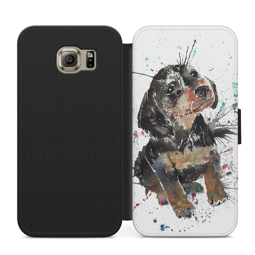 """Pierre"" Dachshund Flip Phone Case"