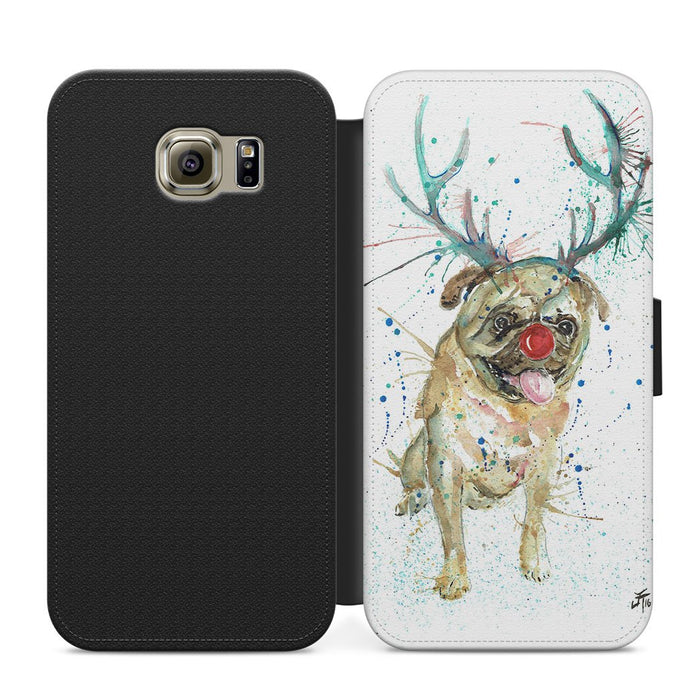 Christmas Pug Flip Phone Case