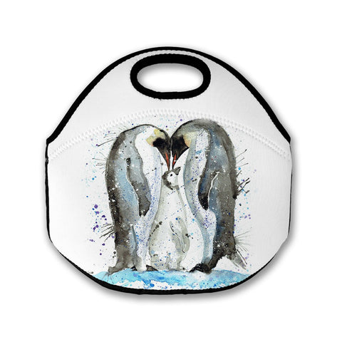 Family Penguins Lunch Tote Bag