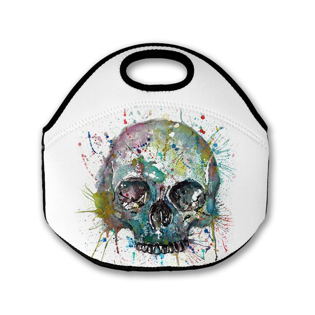Blue Skull Lunch Tote Bag