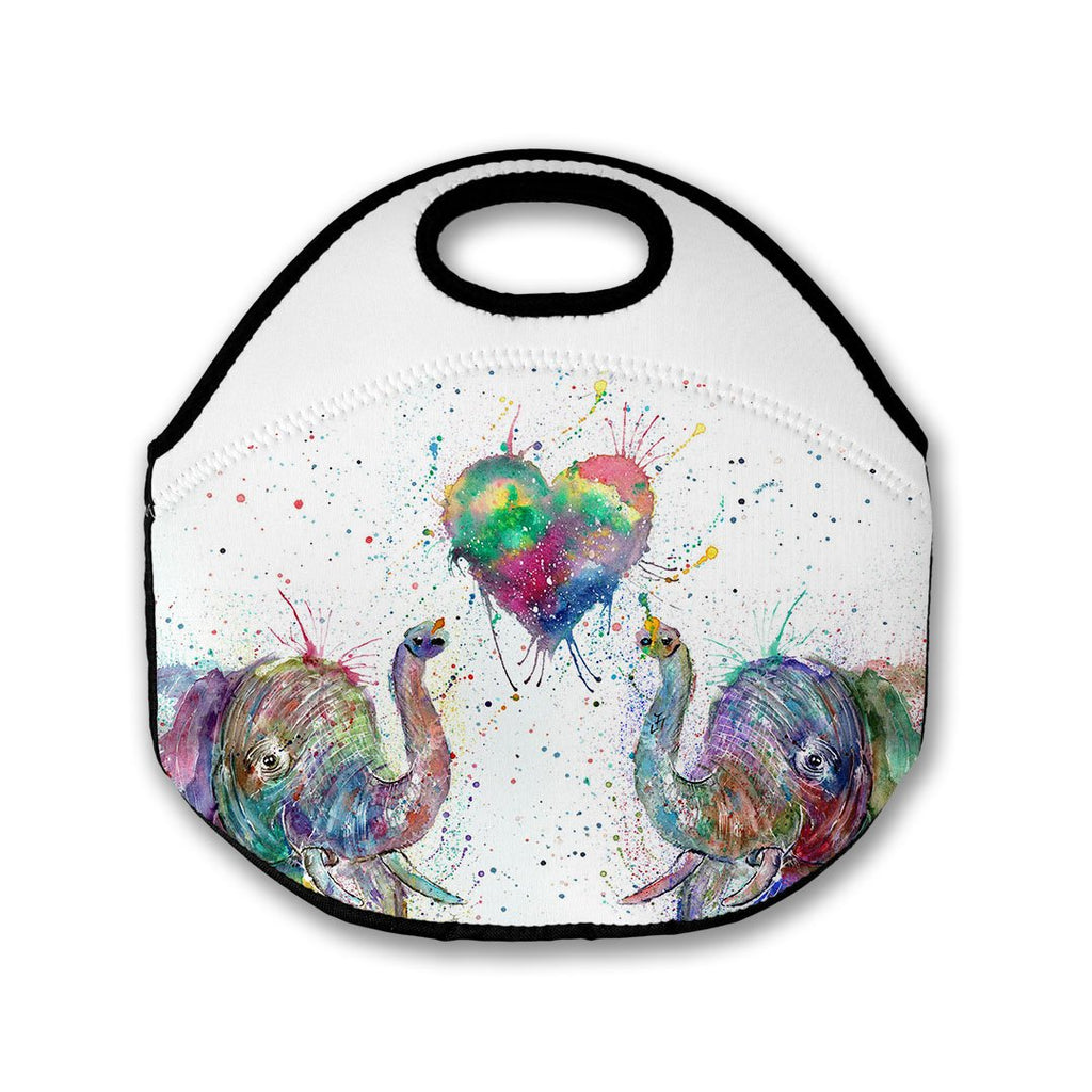 Romantic Elephants Lunch Tote Bag