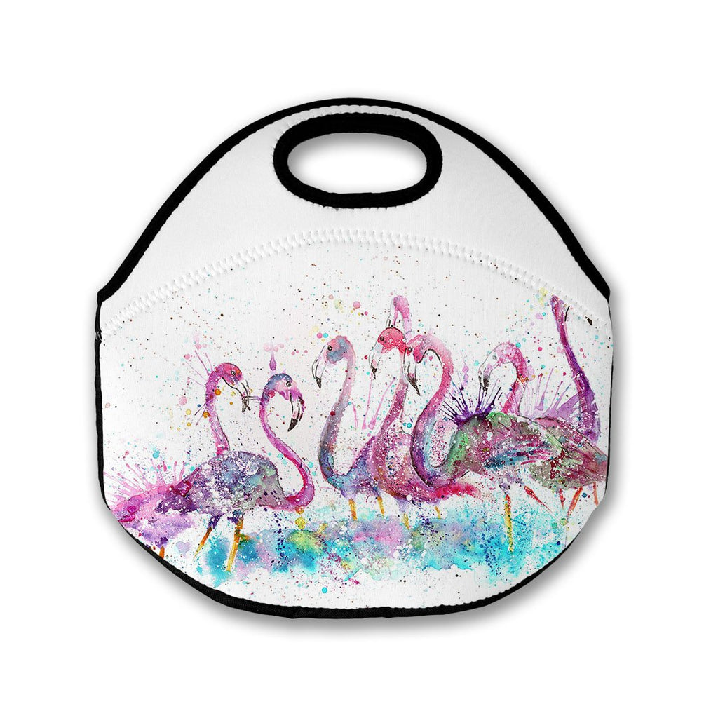 """Flamboyance"" Flamingos Lunch Tote Bag"