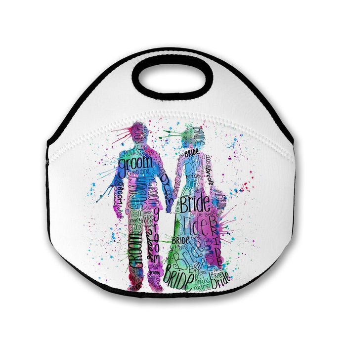 Bride and Groom (Pink) Lunch Tote Bag