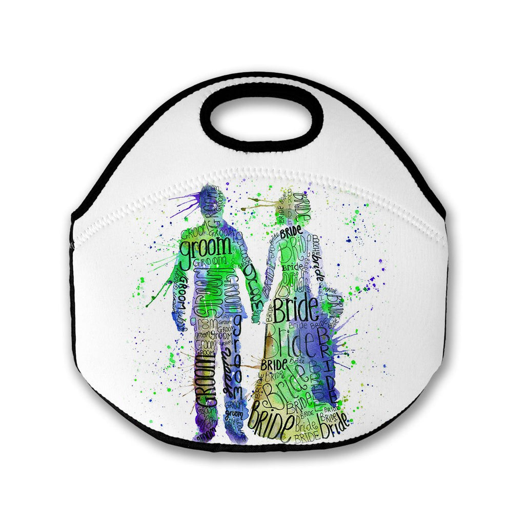 Bride and Groom (Green) Lunch Tote Bag