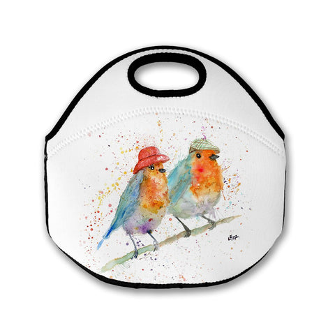 Mr & Mrs Robin Lunch Tote Bag