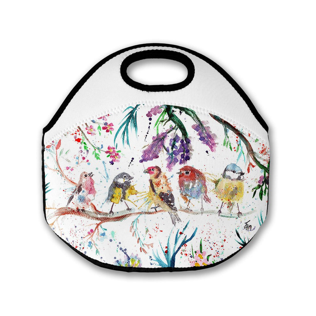 """Tree Friends"" Birds Lunch Tote Bag"