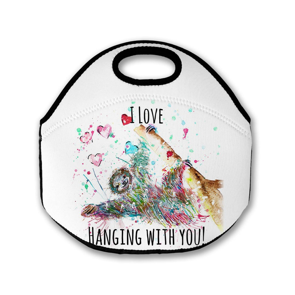"""I Love Hanging With You"" Sloth Lunch Tote Bag"