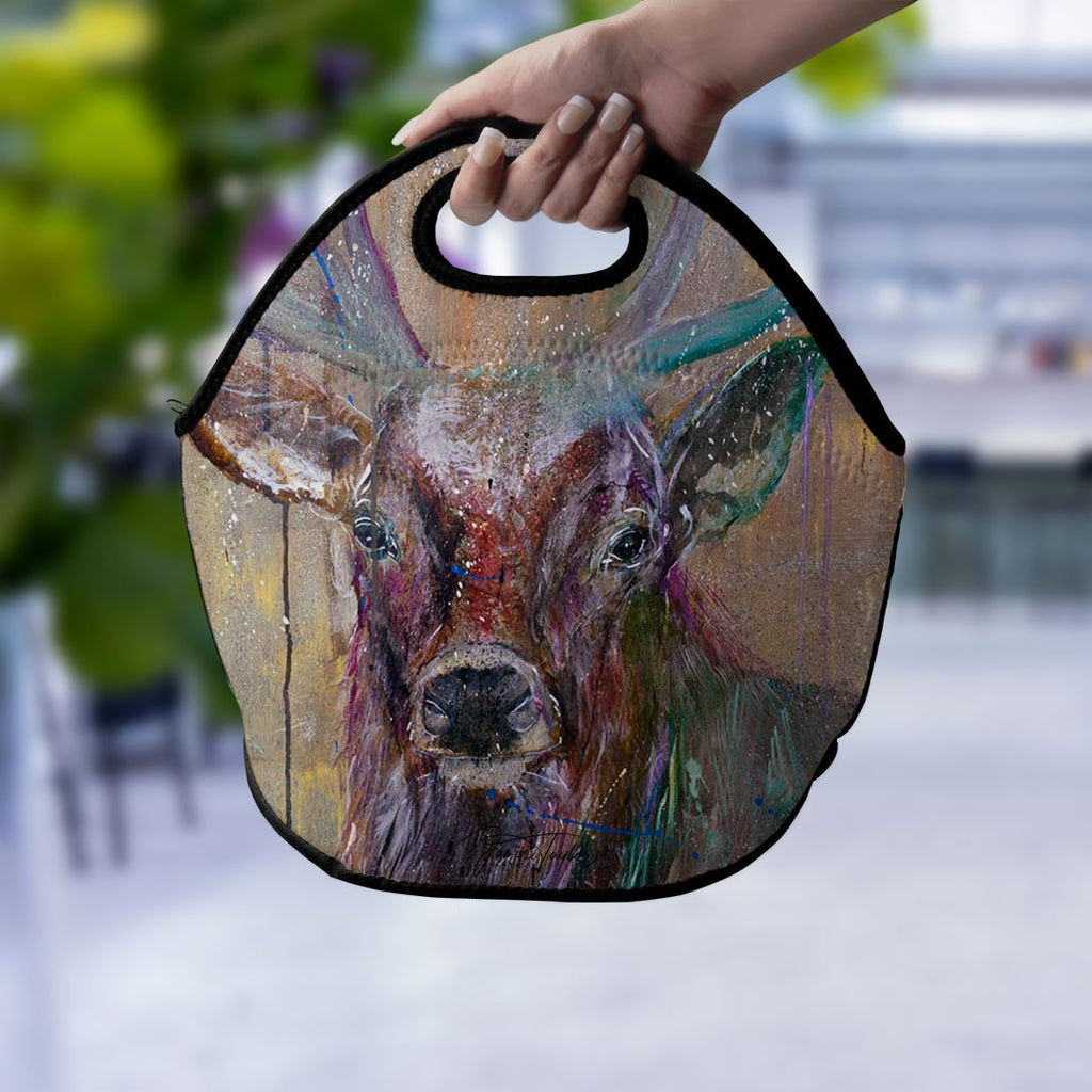 """Illustrious"" Stag Lunch Tote Bag"