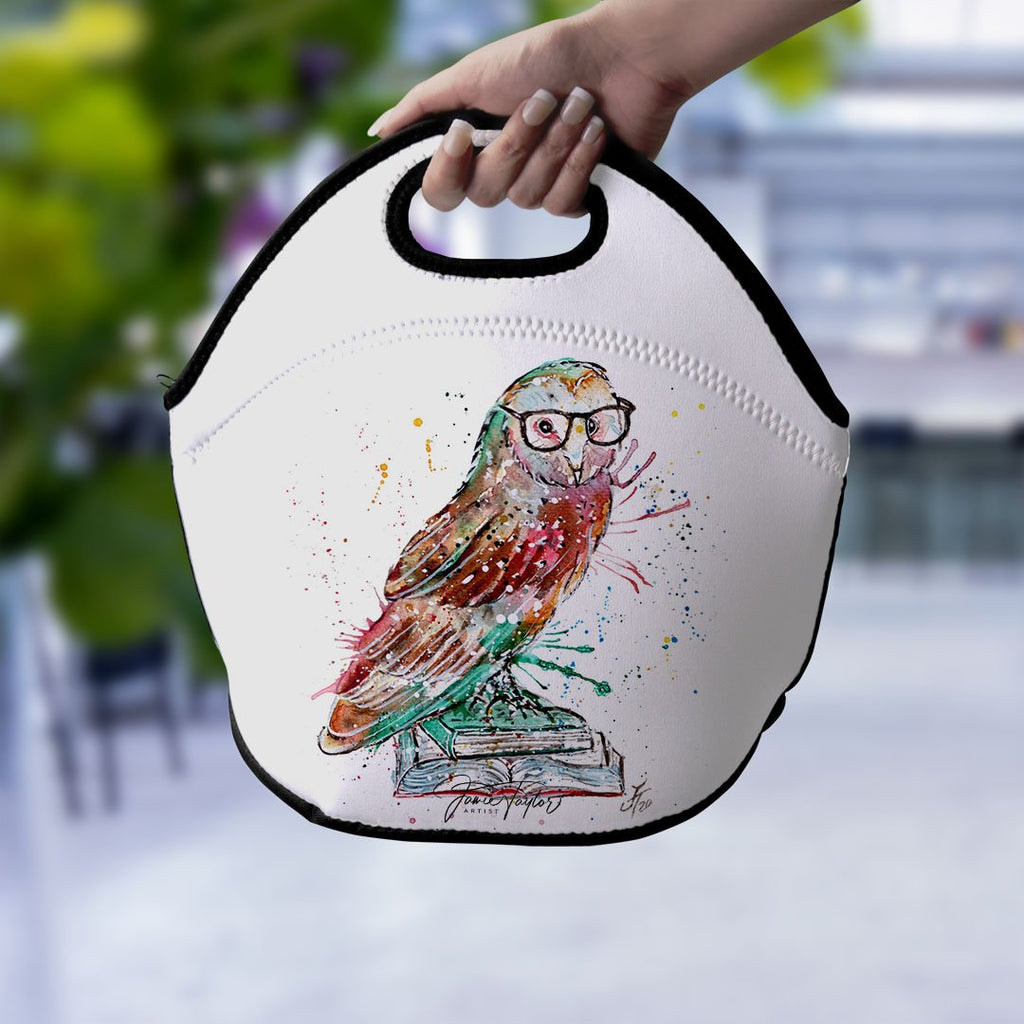 """Knowledge"" Owl Lunch Tote Bag"