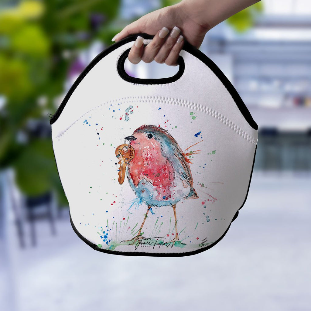 """Grateful"" Robin Lunch Tote Bag"
