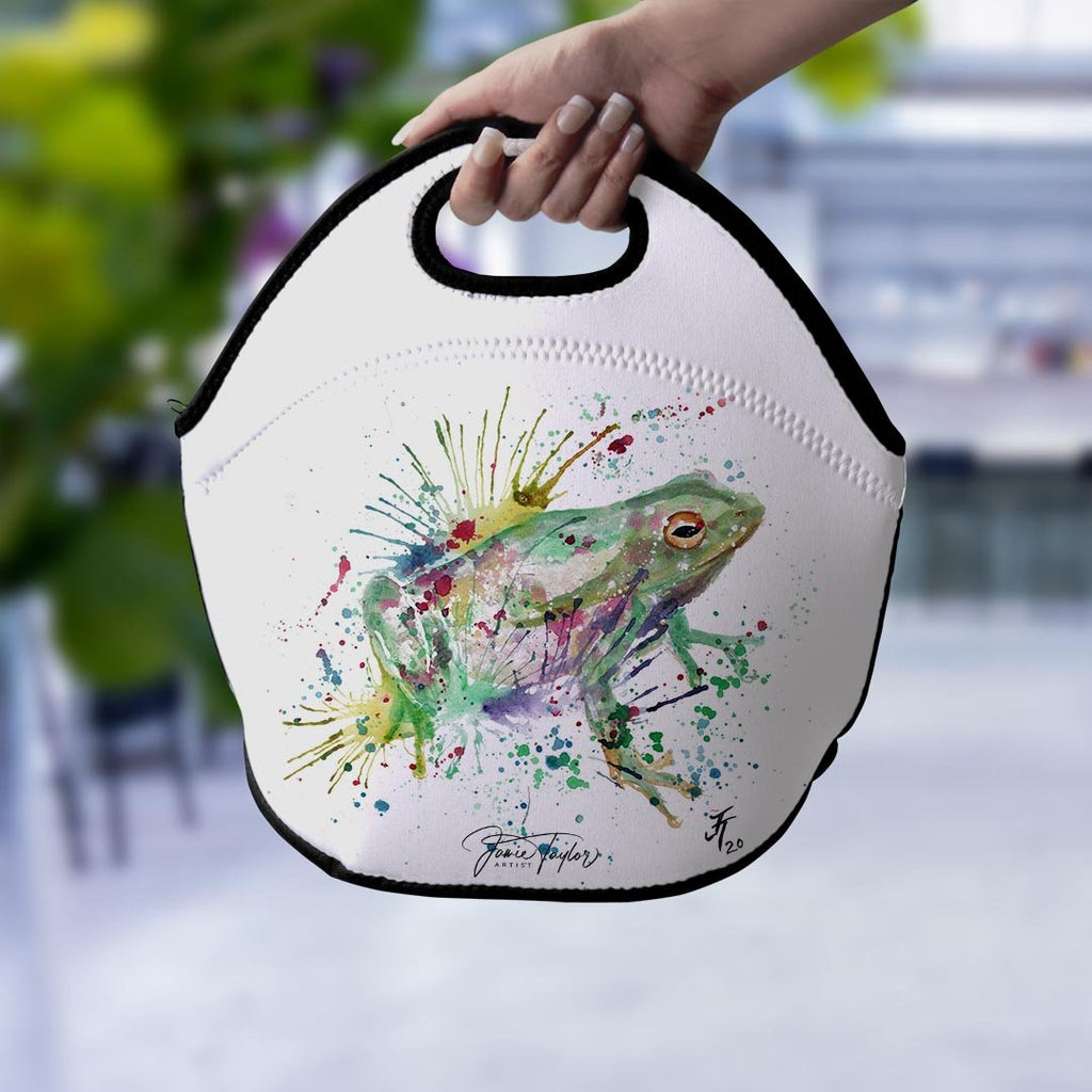 """Ribbit"" Frog Lunch Tote Bag"