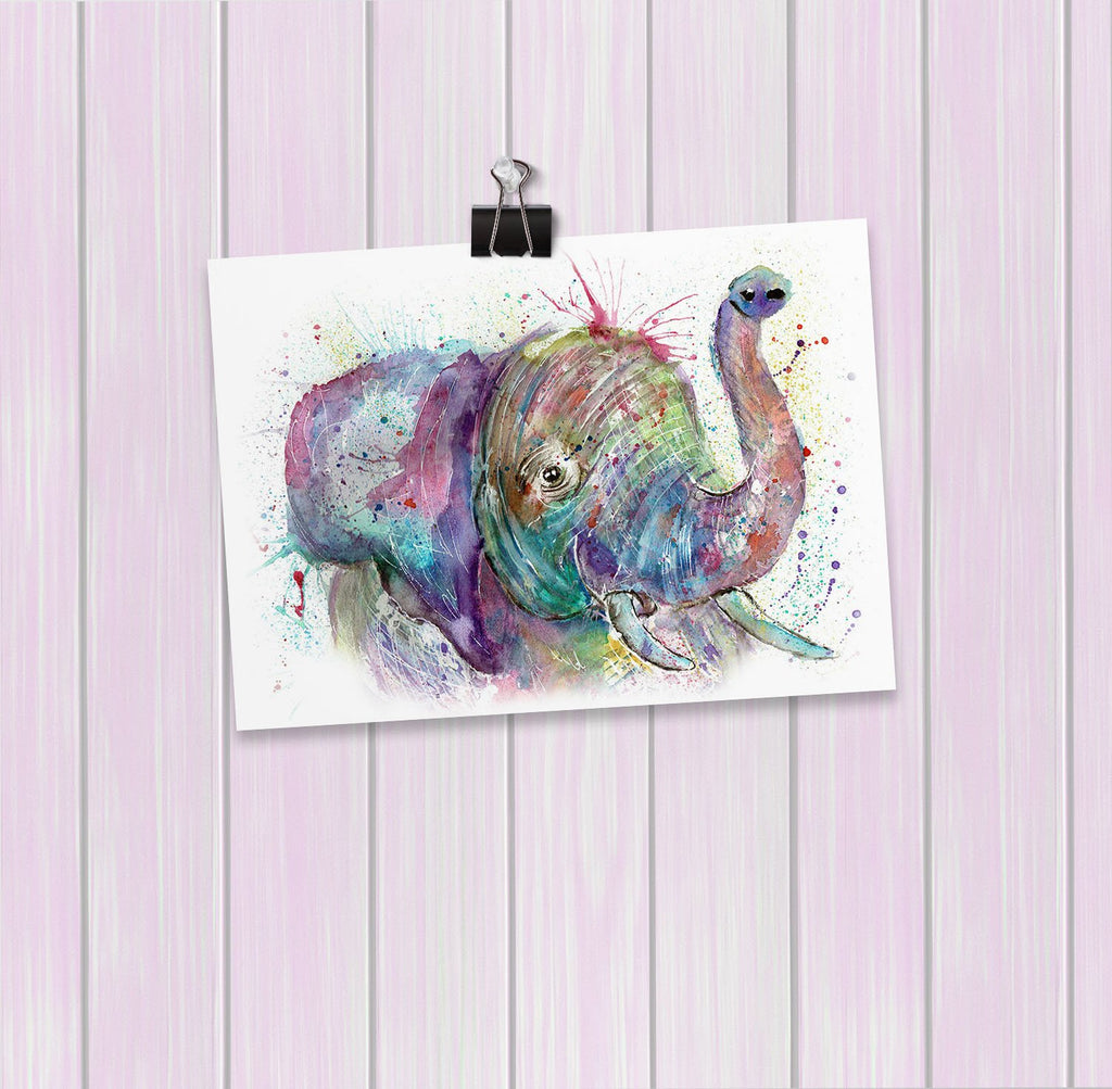"""Ele"" Elephant Art Mini Print"