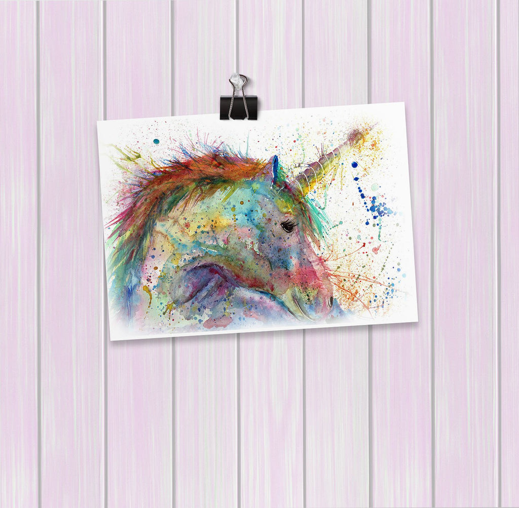 """Swirl"" Unicorn Art Mini Print"