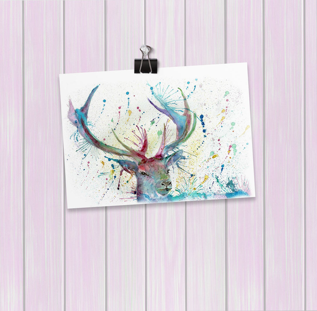 """Proud"" Stag Art Mini Print"