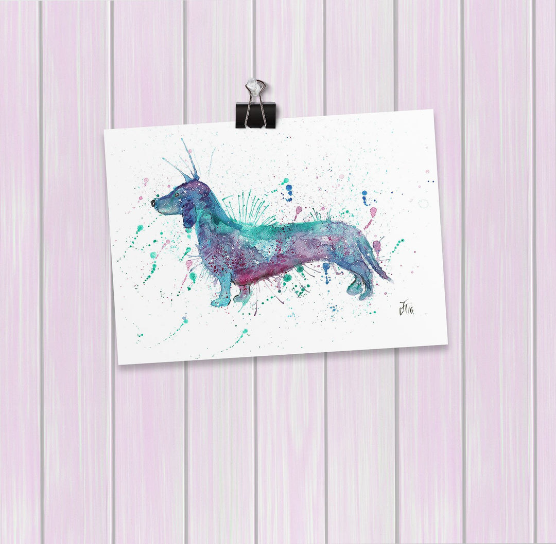 Mr Sausage Dog Art Mini Print