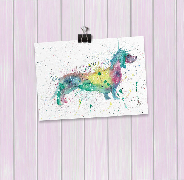 Mrs Sausage Dog Art Mini Print