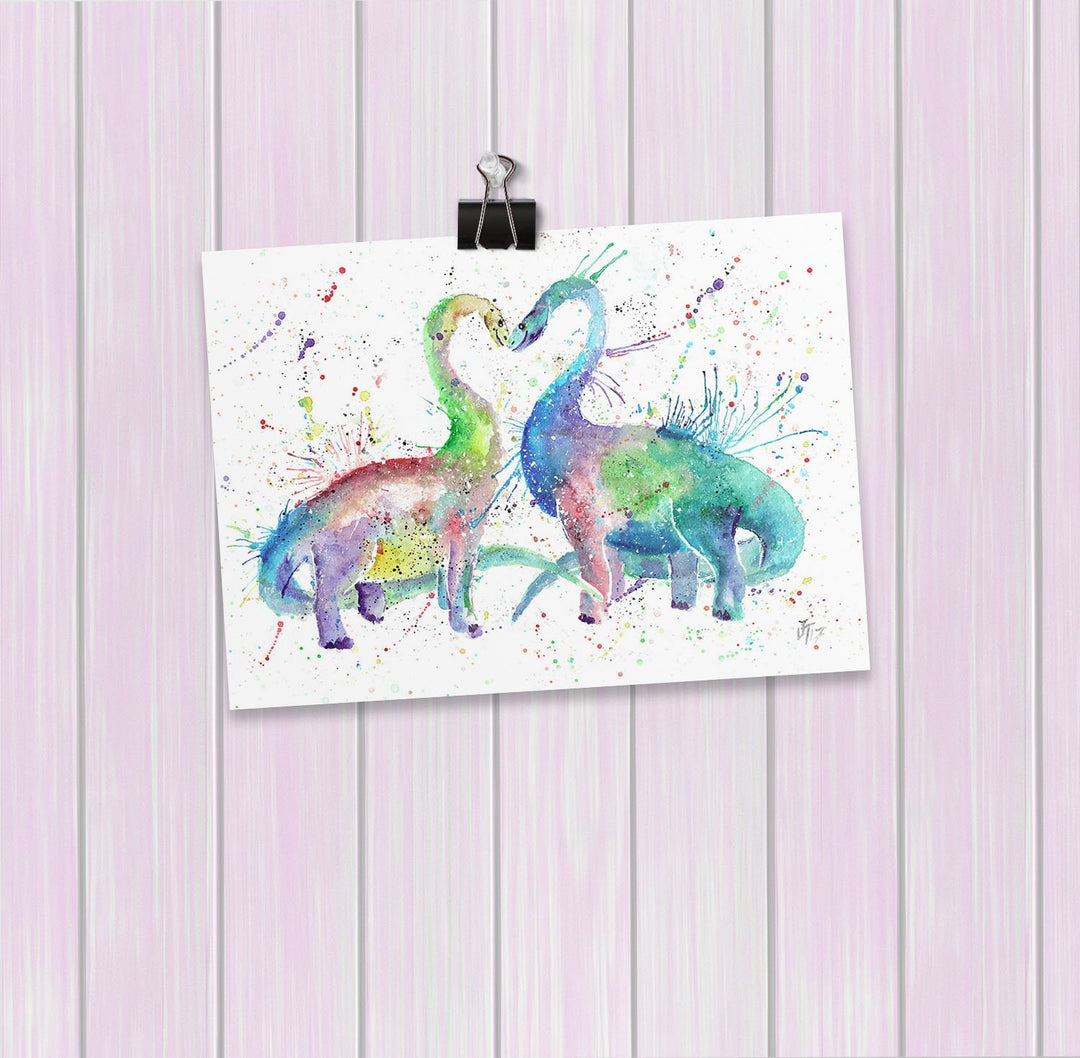 Love Dinosaurs Art Mini Print