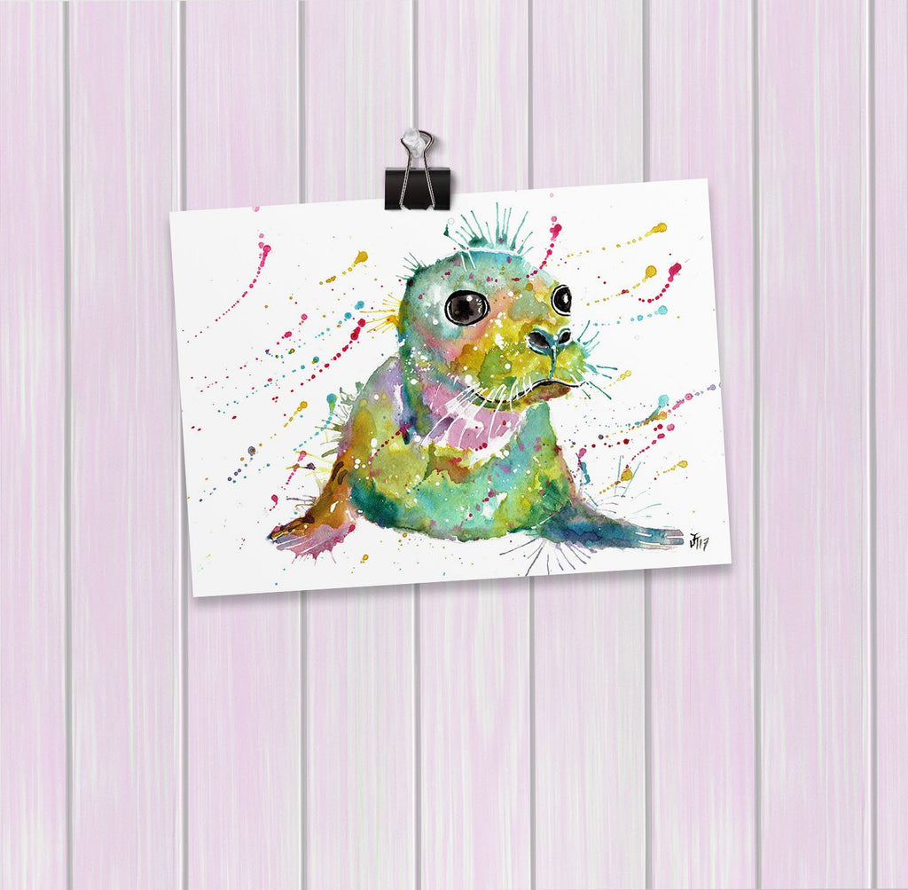 """Toby"" Seal Art Mini Print"