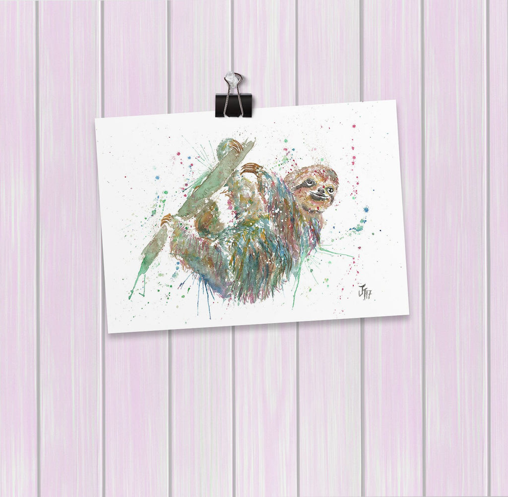 Hey Mr Sloth Art Mini Print