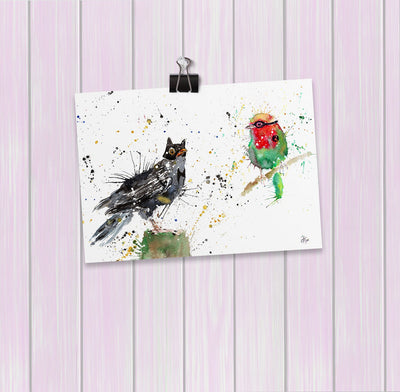 Blackbird & Robin Art Mini Print