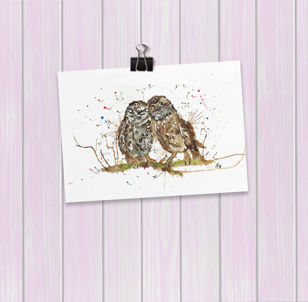 My Favourite Owl Art Mini Print