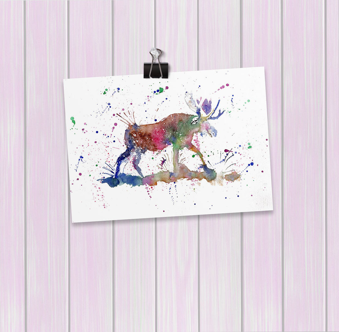 """Morgan"" Moose Art Mini Print"