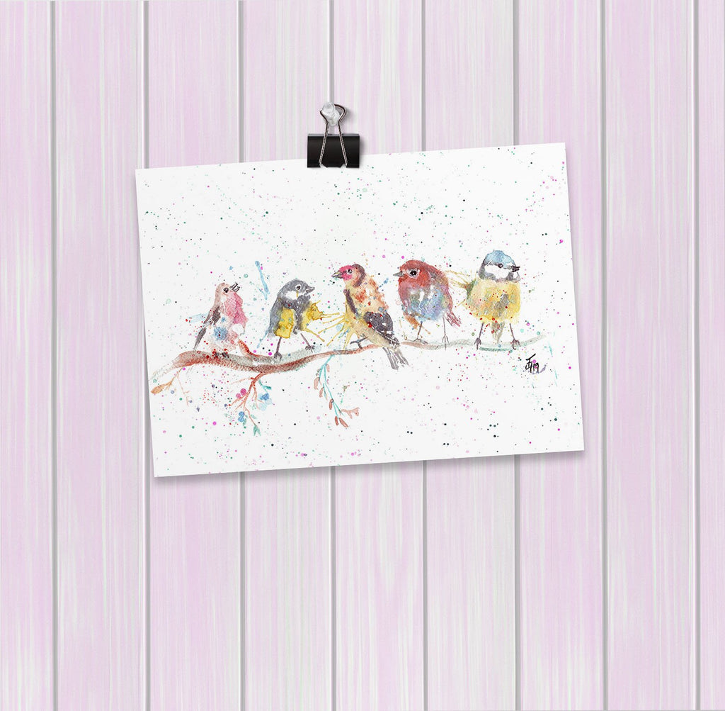 """Tree Friends"" Birds 2 Art Mini Print"