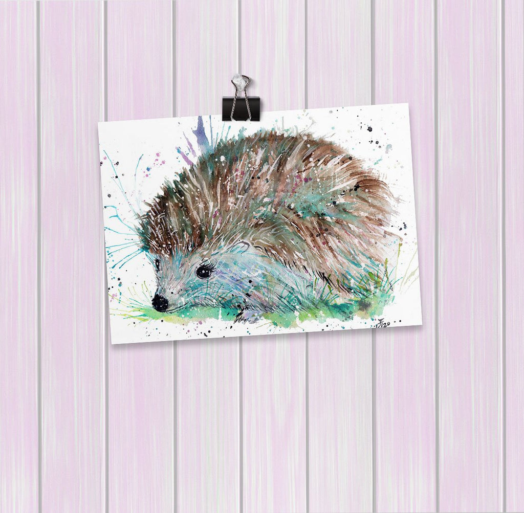 """Sweet"" Hedgehog Art Mini Print"