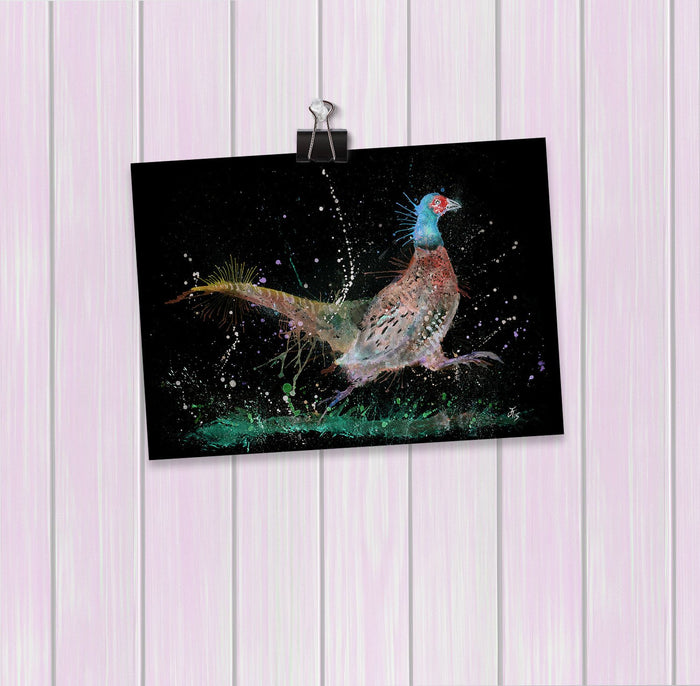 """Fez"" Pheasant Enchanted Art Mini Print"
