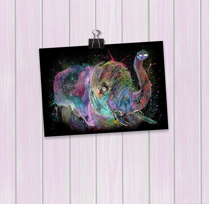 """Ele"" Elephant Enchanted Art Mini Print"