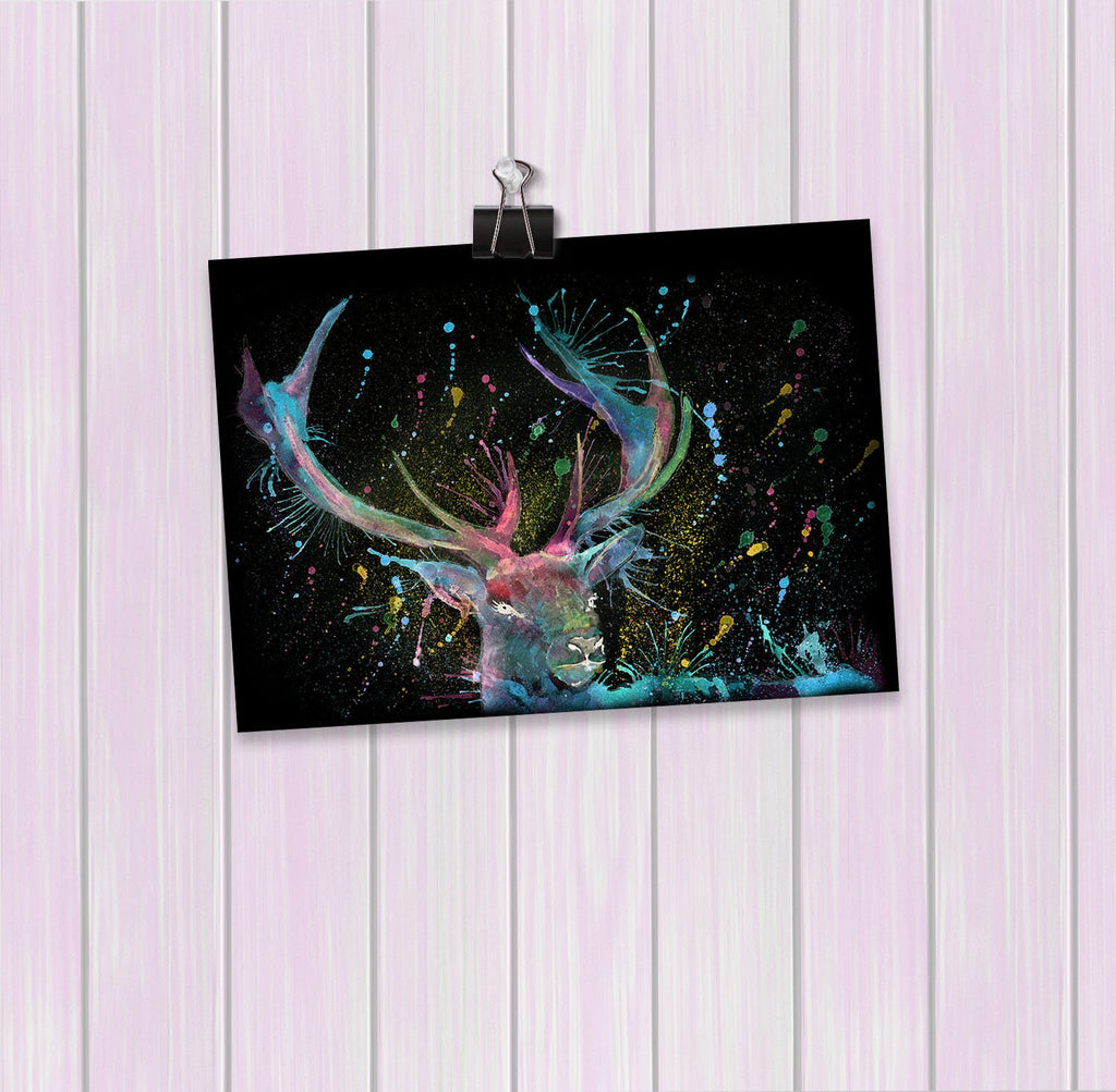"""Proud"" Stag Enchanted Art Mini Print"
