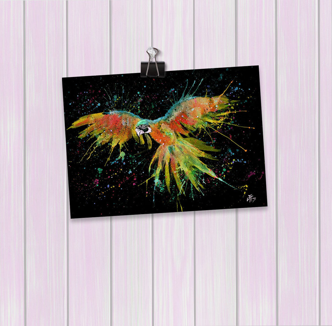 """Ian"" Parrot Enchanted Art Mini Print"