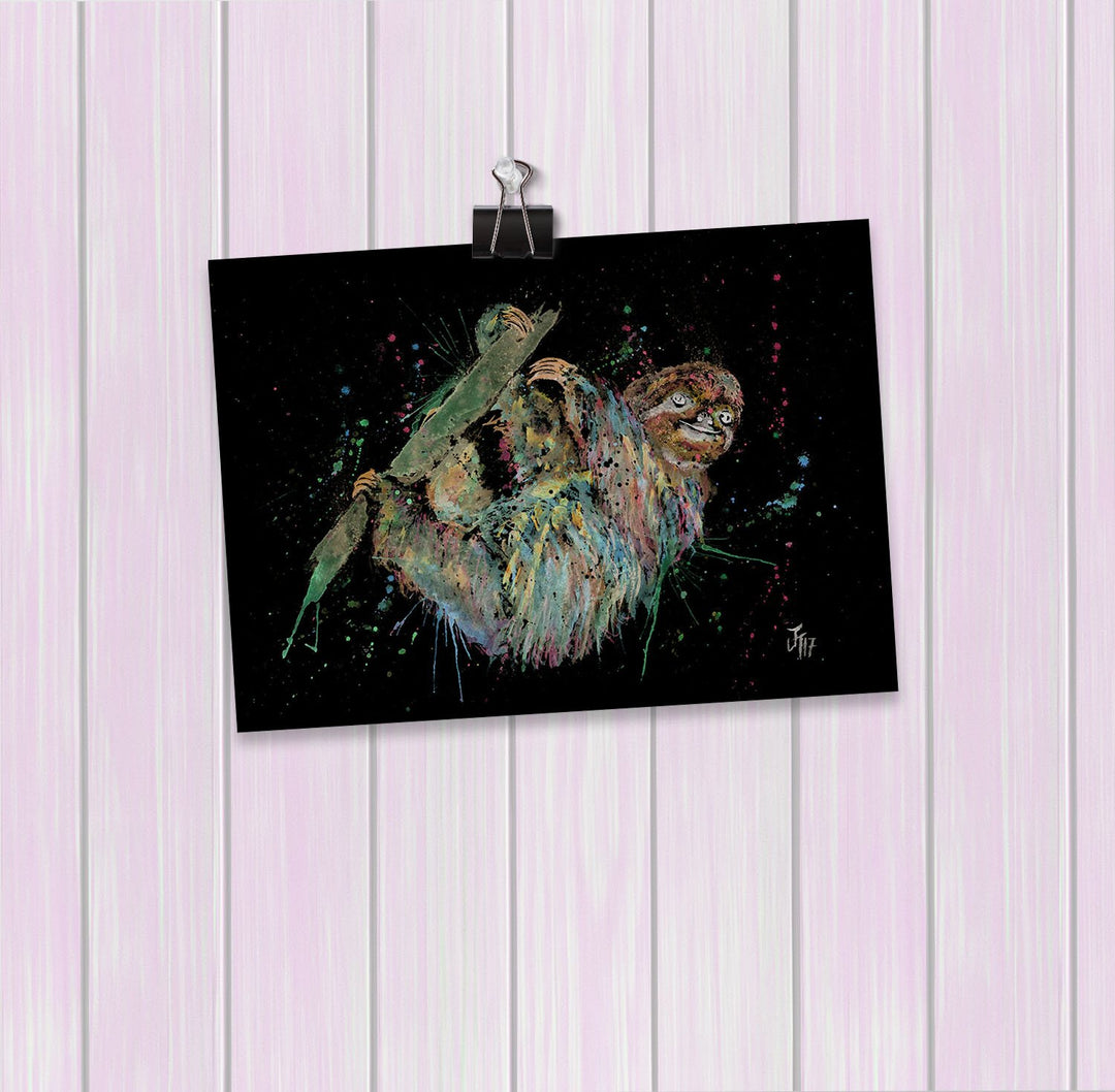 Hey Mr Sloth Enchanted Art Mini Print